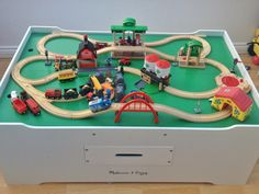 Awesome BRIO track layout with farm quarry bridges platforms and stations. The · Train TableWooden ... & Advanced wooden train set featuring items from Brio 33208 Rail ...