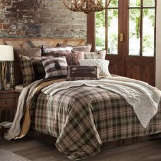 Plaid Comforter, King Comforter, Console, Full Comforter Sets, Rustic Comforter Sets, Country Bedding, Western Bedding, Sweet Home, Bedding Collections