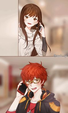"NazedaNya@707 hell — ""I want to make you smile too."" mc x 707"
