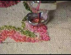 How to machine stitch a miniature rug.