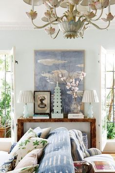 Check on www.prettyhome.org - pastel accents
