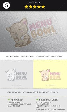 Buy Menu Bowl Logo Design by godesignme_kong on GraphicRiver. Full vectors, this logo can be easily resize and colors can be changed to fit your project. Best Logo Design, Brand Identity Design, Icon Design, Graphic Design, Design Design, Logo Design Template, Print Templates, Menu Design, Bowl Logo