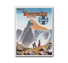 Retro Travel Art Yosemite Sports Poster by VintageSportsPosters, $9.00