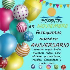 Nuestro #aniversario lleno de regalos, promociones, descuentos y mucho mas!!! para festejarte a ti..