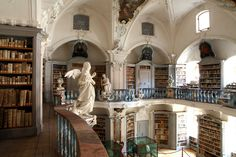 Gorgeous statues. I want statues in my library, please. // The library belonging to the abbey St Peter in the Black Forest.