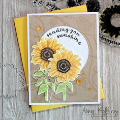 Sending you Sunshine by Amy Kolling - September 2017 My Monthly Hero kit
