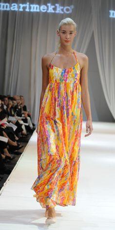 Marimekko dress / maxi dress / yellow