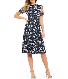 c53f4a17983 Antonio Melani Britt Floral Embroidered Tulle Midi Dress Antonio Melani  Dress