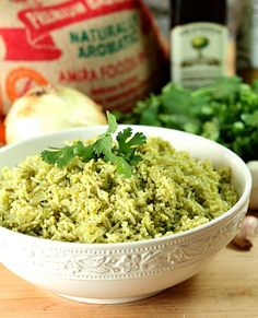 Cilantro Rice - A Mexican Rice with Cilantro Dressing from @creativculinary