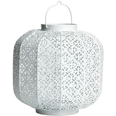 H&M Large metal tealight holder ($26) ❤ liked on Polyvore featuring home, home decor, candles & candleholders, candles, decor, light, white, metal home decor, metal candle and white candles