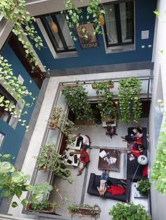 Oasis Backpackers Hostel, Sevilla Spain  We have to go!!! It's also not very expensive;  something like 18$  a day