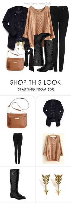 """""""Allison Inspired Winter Outfit"""" by veterization ❤ liked on Polyvore featuring Calvin Klein, Forever 21, Topshop, John Lewis, Jade Jagger and SELECTED"""