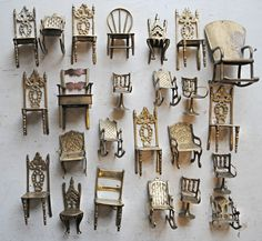 miniature chair collection.