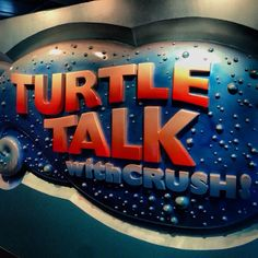 Turtle Talk with Crush at Epcot Living Seas Pavilion via @wdwparknow