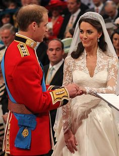 Royal Wedding Pictures: The Ones You Haven't Seen A Million Times   Prince William and Kate at their wedding ceremony at Westminster Abbey.
