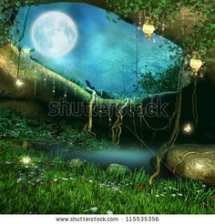 Fairy tale moon at night backdrops tree hole dream background children photography backgrounds fond studio photo vinyle 9492 Enchanted Forest Party, Forest Fairy, Forest House, Fairy Land, Digital Backgrounds, Photo Backgrounds, Background For Photography, Photography Backdrops, Photography Backgrounds