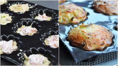 Moelleux aux poireaux, insert au saumon fumé