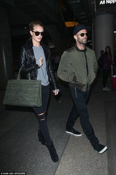 Rosie Huntington-Whiteley and Jason Statham  return from Thailand trip - Celebrity Fashion Trends