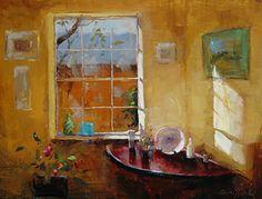 Intérieur de la chambre par Ann Hardy Oil ~ 12 x 16Intérieur de la chambre Huile sur toile de lin belge à bord 12 x 16 $ 720,00 USD Vendu