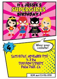 Image result for girls superhero party printable invites