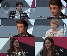 harry potter, emma watson, and rupert grint image - Harry Potter fandom - humor Harry Potter Puns, Harry Potter Cast, Harry Potter Universal, Harry Potter World, Harry Potter Interviews, Hogwarts, Harry Potter Pictures, Rupert Grint, Harry Potter Wallpaper