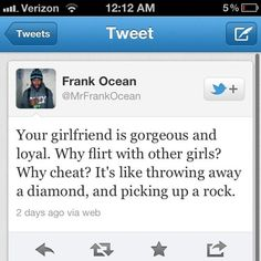 Your gf is gorgeous and loyal. why flirt with other girls? why cheat? it's like throwing away a diamond, and picking up a rock...