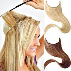 """16""""-30"""" Thick Human Remy Secret Invisible Wire Filp In  Hair Extensions 120G"""