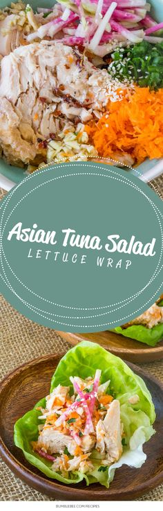 Do you want to liven up your lunch? Keep it festive and crisp with this Asian Tuna Lettuce Cups recipe, featuring watermelon radish and Bumble Bee®️️ Albacore Tuna.