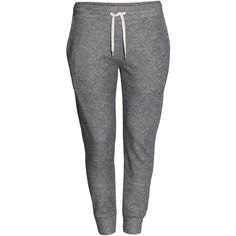 H&M+ Sweatpants ($13) ❤ liked on Polyvore featuring activewear, activewear pants, pants, bottoms, jeans, sweatpants, grey, plus size, plus size activewear and cotton sweat pants