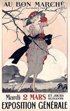 1920 ad for Paris Department store Au Bon Marche.