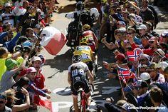 Mont Ventoux - Chalet Reynard - France - wielrennen - cycling - radsport - cyclisme - Chris Froome (GBR-Team Sky) - Richie Porte (AUS-BMC Racing Team) - Bauke Mollema (NED-Trek Segafredo) fans supporters crowd spectators pictured during stage 12 of the 2016 Tour de France from Montpellier to Mont Ventoux Chalet Reynard , 179.00 km - photo Dion Kerkhoffs/Tim van Wichelen/Cor Vos © 2016