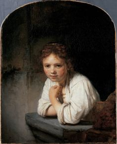 Rembrandt, A Girl at a Window, 1645, Dulwich Picture Gallery