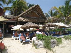 Fusion: Our favorite beach bar in Playa del Carmen. They always saved us great chairs to lounge on for the day. They are well known for their hamburgers and their night-time fire show on the beach. (We loved their chicken quesadillas!  THE BEST EVER!).
