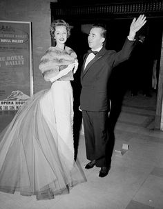 Now You Know: Charles James's Designs - Mrs. Howard Reilly and Charles James, 1957 from #InStyle