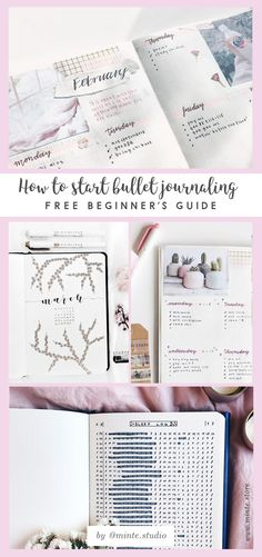 Free beginner's guide to bullet journaling with examples from the most beautiful bujo Insta accounts - clink the link to find more!