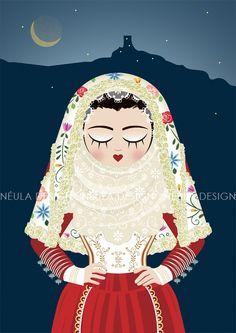 Le Sognatrici (Costume di osilo - Sardegna) © Néula Design