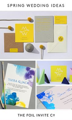 Planning a colourful spring wedding? Check our our bespoke spring wedding stationery ideas and wedding invitations to match the theme of your special day. Foil Wedding Invitations, Wedding Invitation Design, Wedding Stationery, Happy Wedding Day, Spring Wedding, Wedding Blog, Yellow Wedding, Wedding Colors, Collor
