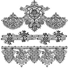 Vintage Lace Border Clip Art | These digital textures and wallpapers from Lost and Taken make great ...