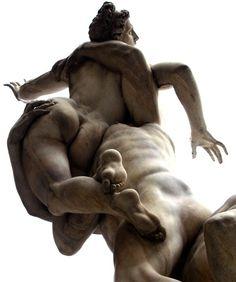 Giambologna, Ratto delle Sabine.  Loggia dell'Orcagna in piazza della Signoria a…