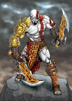 Kratos, God of War by RubusTheBarbarian.deviantart.com
