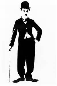 vector silhouette of charlie chaplin famous comedian from the 30 39 s standing with his bowler hat. Black Bedroom Furniture Sets. Home Design Ideas