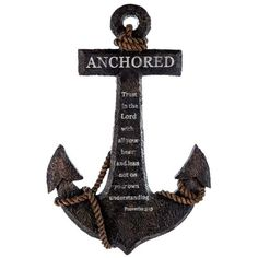 Anchored in the Lord Proverbs 3:5 Resin Wall Decor