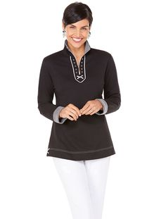 All occasion tunic in comfy French terry knit | Film Festival Separates Top