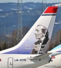 Norwegian Air Shuttle H.C. Andersen Danish Writer