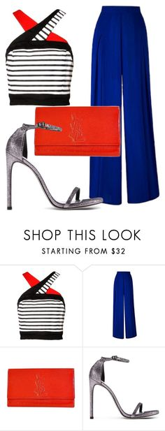 """Weekend at the Hamptons"" by styledbytammy ❤ liked on Polyvore featuring Yves Saint Laurent and Stuart Weitzman"
