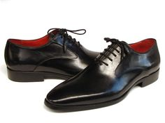 Paul Parkman Men's Black Oxfords Leather Upper and Leather Sole (ID