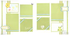 Two page Spring layout using Penelope paper pack and Picture My life white overlays.