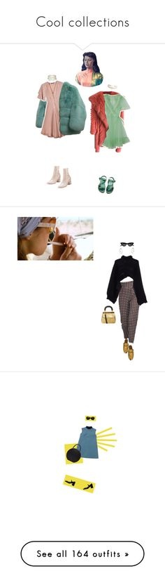 """Cool collections"" by bloss-umm ❤ liked on Polyvore featuring Gucci, Kristinit, ESCADA, ASOS, Valentino, Rodarte, Charlott, MANGO, Burberry and Le Specs"