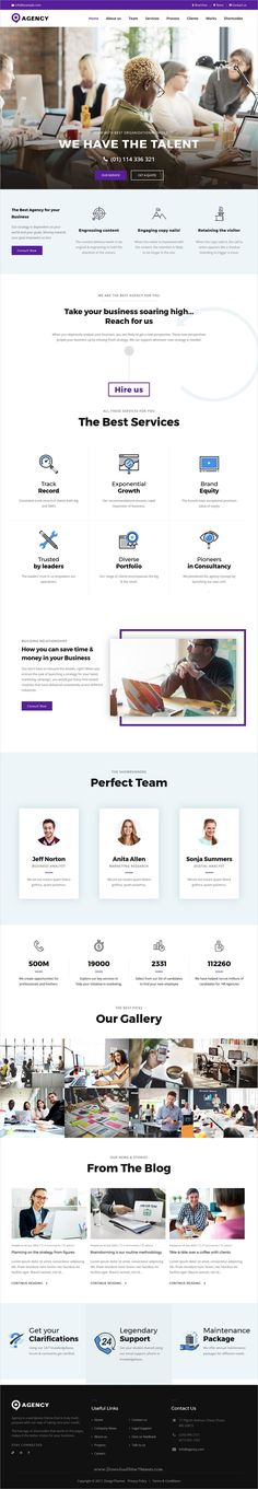 Agencies is clean and modern design responsive multipurpose #WordPress theme for #creative business #agency website download now >