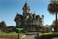 The Carson Mansion located in Eureka, California is considered one of the finest examples of American Queen Anne style architecture.